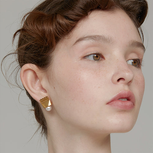 Sugar Pearl Ear Studs  by Yvmin - Teel Yes