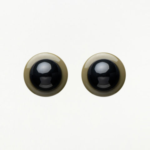 Black Eyelash & Teardrop Earrings