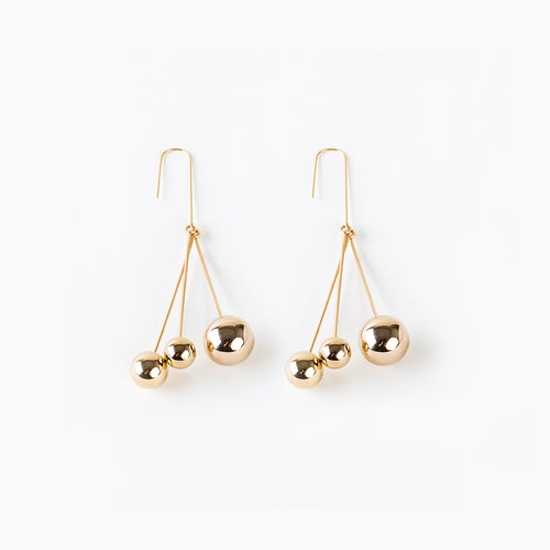 Triple Ball Drop Earrings - Teel Yes