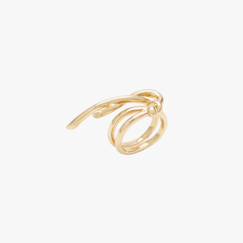 Venus Double Circle Ring Gold by ESHVI - Teel Yes