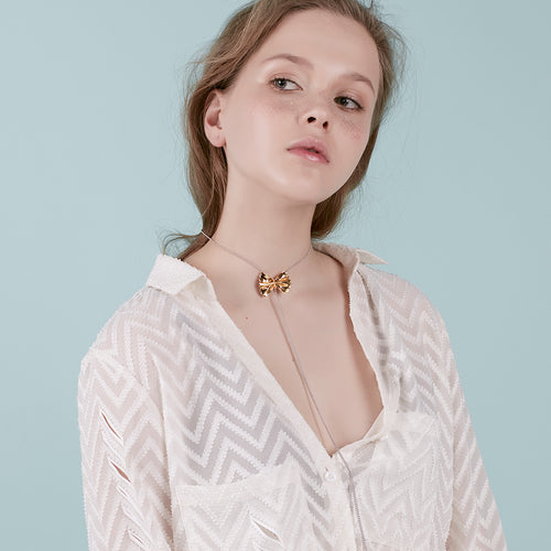 YVMIN - Farfalle Pasta Double Y Necklace - Teel Yes