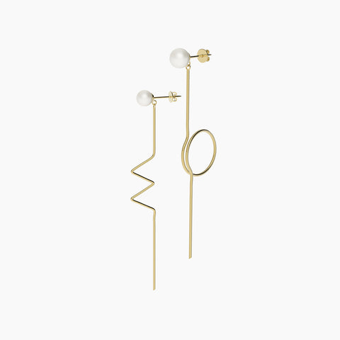 Ami Hoops Earrings - Silver