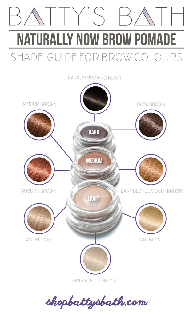 Find your perfect shade of eyebrow pomade