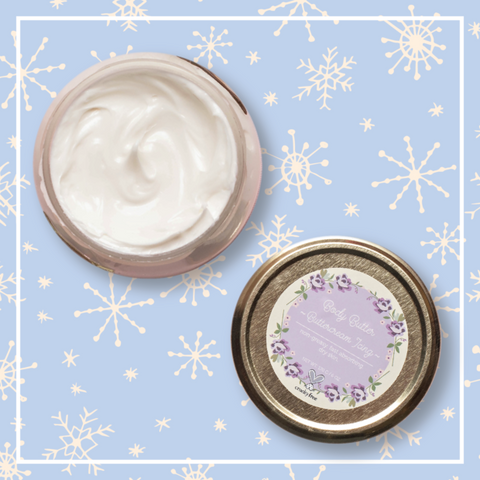 Beat the winter blues with natural buttercream icing body butter