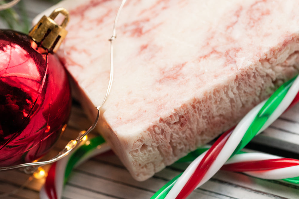 Candy Cane Holiday Handmade Soap