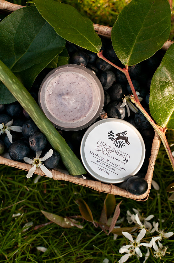Blueberry & Cornflower Hydra Well Night Cream - hydrating barrier repair