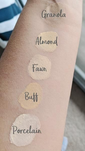 Clean Beauty Foundation Swatches - Plant-based Makeup