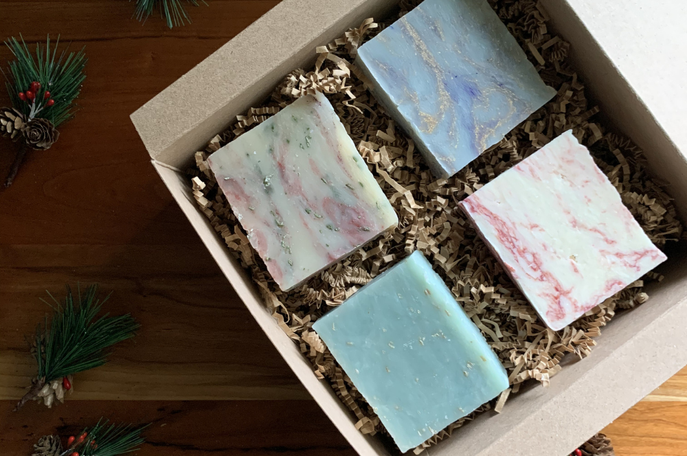 Handmade Holiday Soap Collection - 4 pack