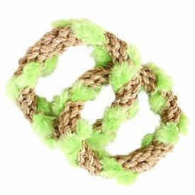 "2 Circle Tug Toy - Natural ""Manila Hemp"""