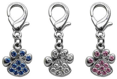 Dog Collar Paw Charms