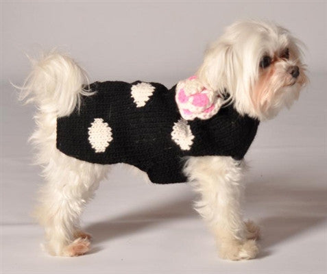 Black Polka Dot Dog Sweater