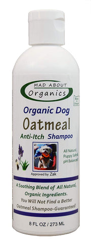 Organic Oatmeal Shampoo for Dogs 8oz.