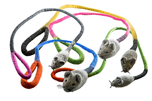 Eco Rat Wool Cat Toy
