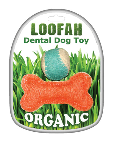 Ball & Bone Loofa Organic Dental Toy