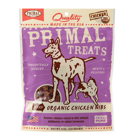 Organic Chicken Nibs Jerky for Dogs & Cats