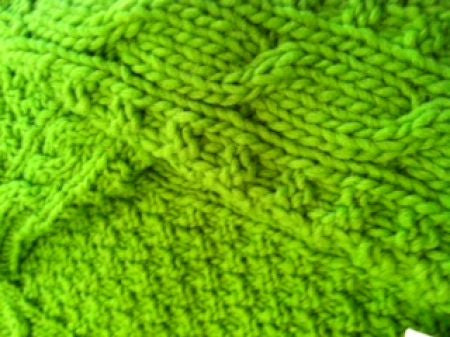 Cable Knit Dog Sweater - Bright Green