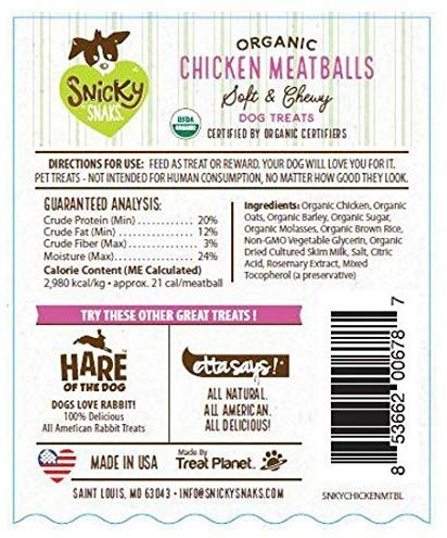 Organic Chicken Meatball Soft & Chewy Dog Treats 5.5-oz bag