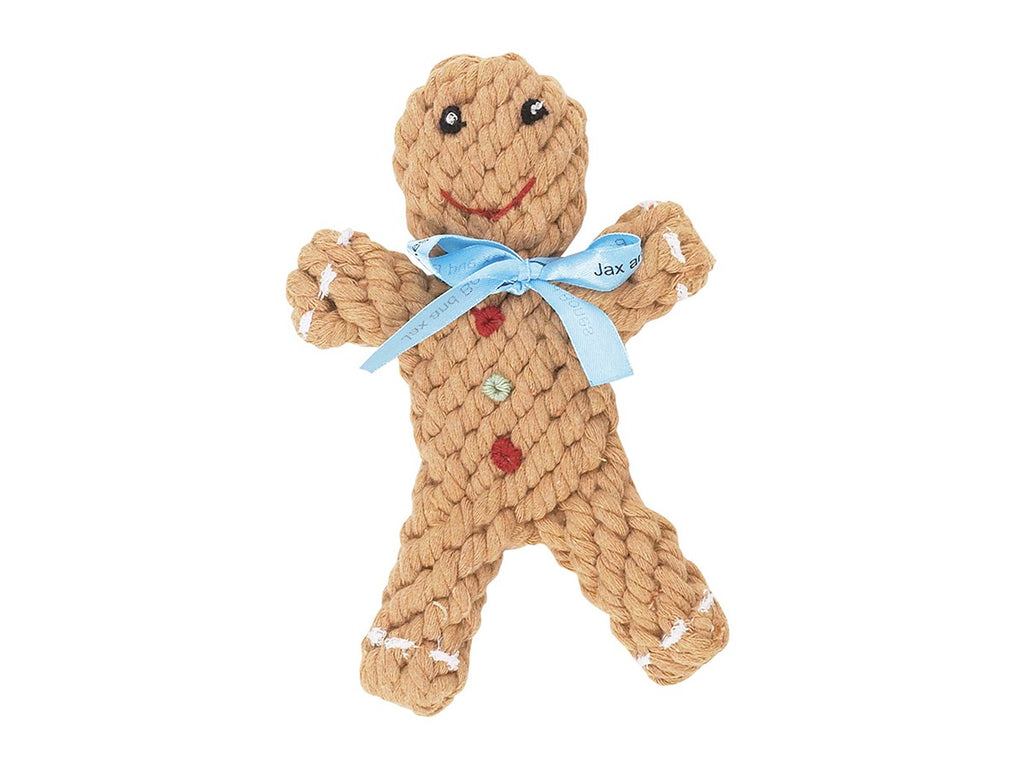 Gingerbread Man Rope Toy