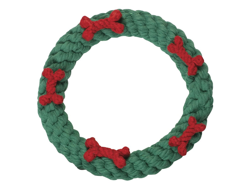 Green Holiday Ring Rope Toy
