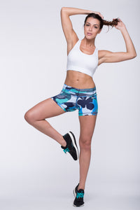 Shorts Crazy Print - Amni, Atlantis Blue