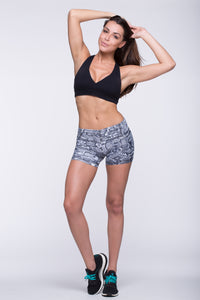Shorts Crazy Print - Amni, Black Cobra