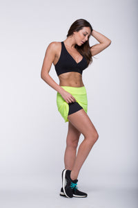 Skort Tennis - Amni/ Airtech, Black and Citrus
