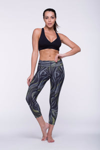 Legging Crazy Print - Amni, Shadow Gray