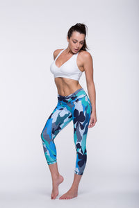 Legging Crazy Print - Amni, Atlantis Blue