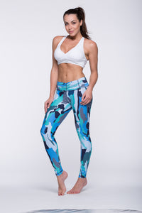 Legging Full Length Crazy Print - Amni, Atlantis Blue