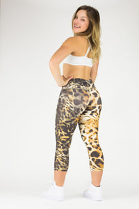 Legging Crazy Print - Amni, Brown Leopard