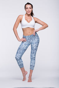 Legging Crazy Print - Amni, Mint Cobra