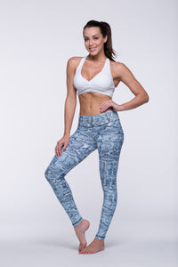 Legging Full Length Crazy Print - Amni, Mint Cobra