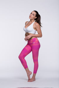 Legging Crazy Print - Amni, Super Pink