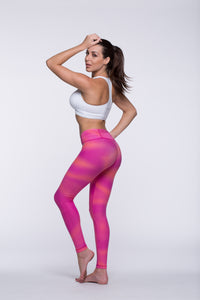 Legging Full Length Crazy Print - Amni, Super Pink