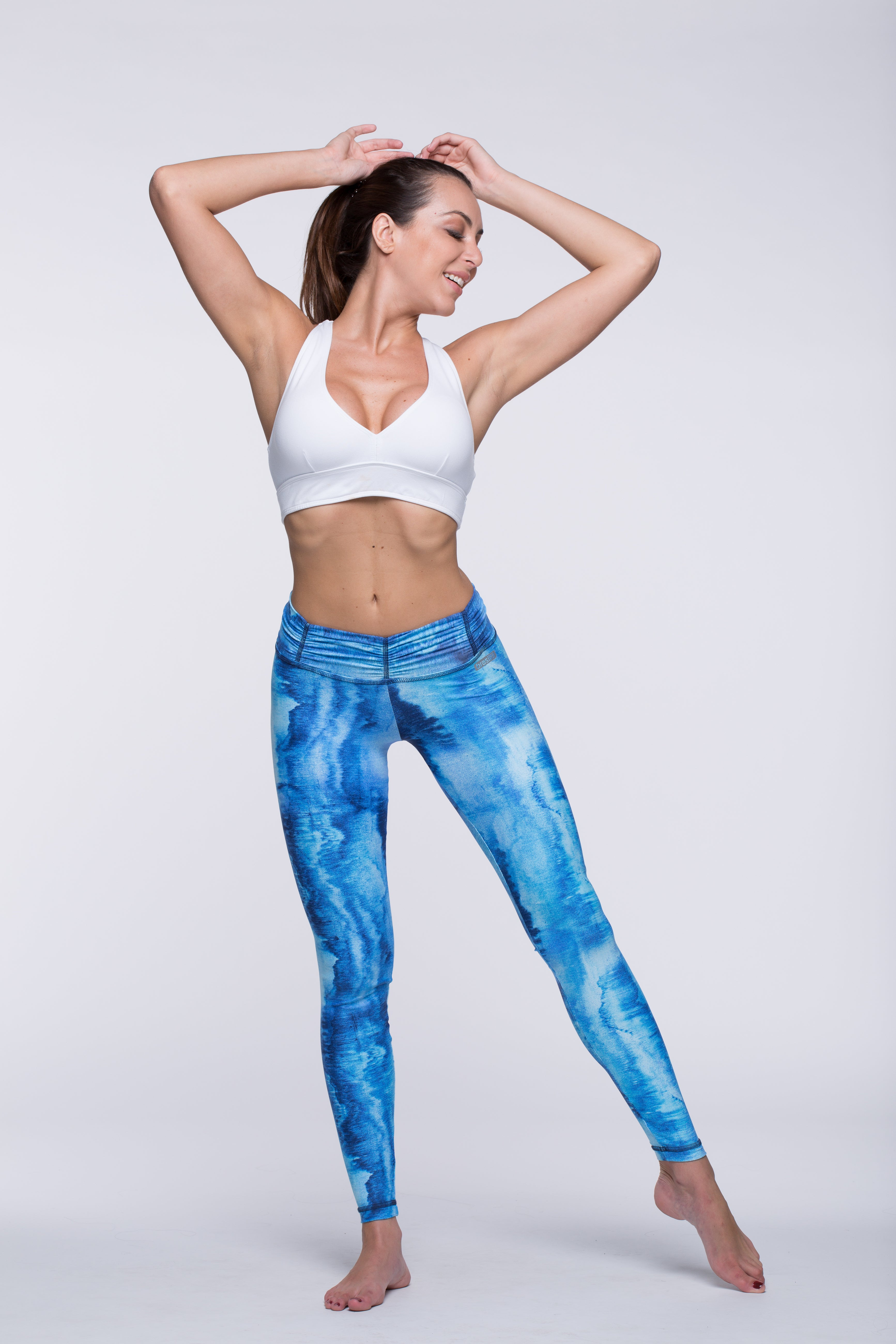 Legging Full Length Crazy Print - Amni, Azure