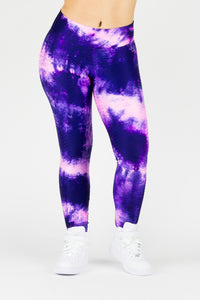 Legging Full Length Wallpaper Tie Dye - Amni, Pink and Purple