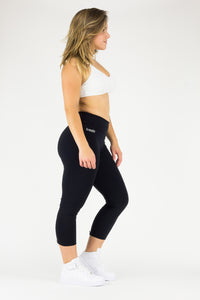 Legging Zipper - Supplex, Black