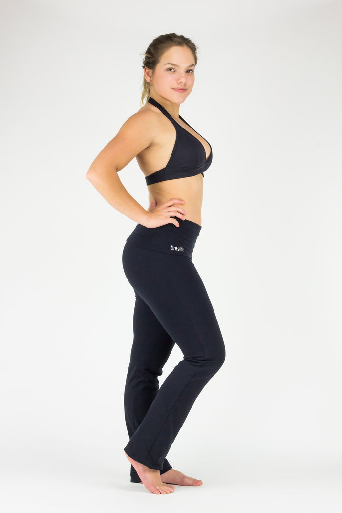 Dance Pants Rollover - Supplex, Black