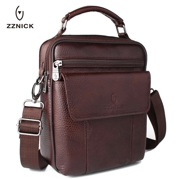 Luxury Men's Genuine Shoulder Bag