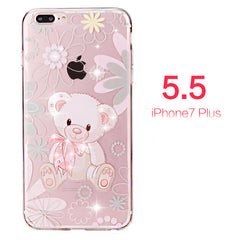 7 Case Rhinestone Glitter Silicone Cover For iphone