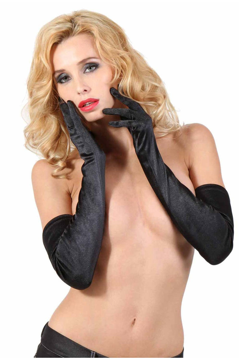 Long Black Gloves-Gloves-PureDiva