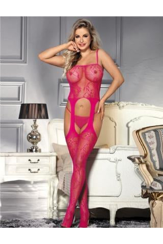 Sexy Pink Bodystockings-Body stockings-PureDiva