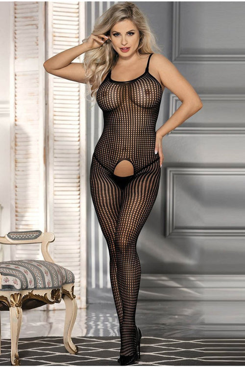 Classic Black bodystockings-Body stockings-PureDiva