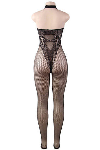 Butterfly Pattern Backless BodyStocking - PureDiva