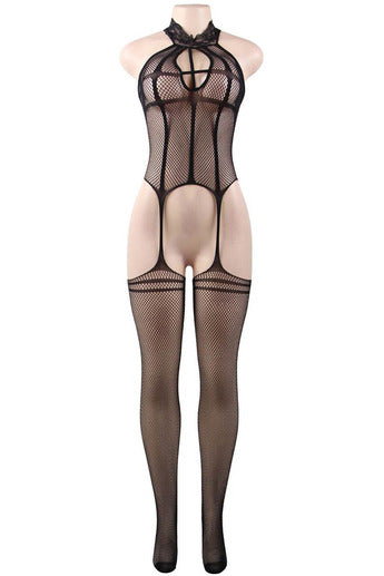 Fishnet Lace Top bodystockings-Body stockings-PureDiva