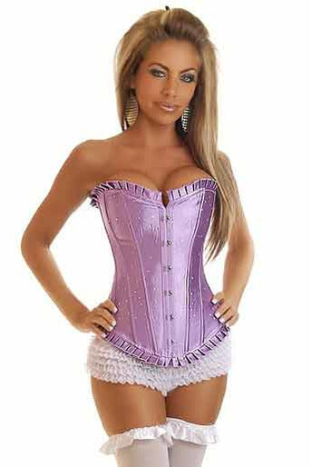 Strapless Purple Sparkle Corset-Corset-PureDiva