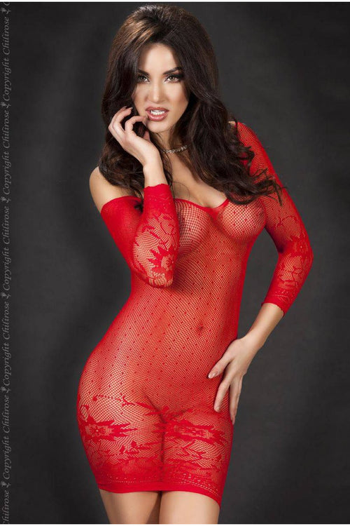Red Seamless Red Mini Dress
