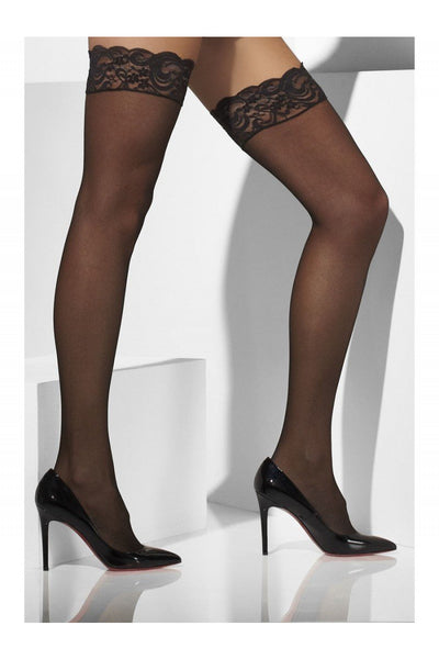 Stay-Up Lace Top Sheer Stockings