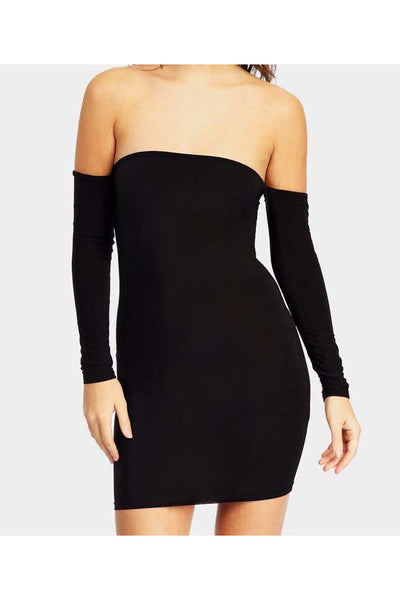 Bardot Long Sleeve Bodycon Dress - PureDiva