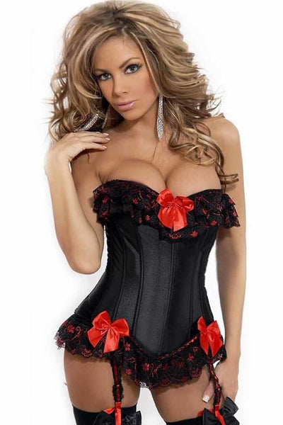Lace and Bows Corset - PureDiva